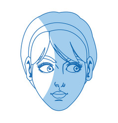Character female face beauty short hair image vector