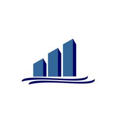 chart logo vector image vector image