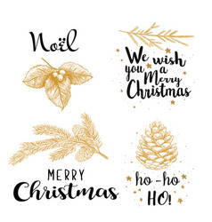 christmas on white background vector image vector image