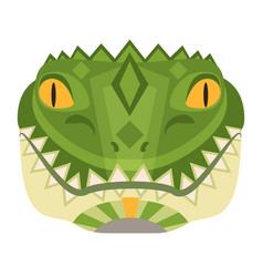 Crocodile head logo alligator decorative vector