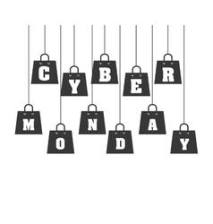 Cyber monday commerce icon vector