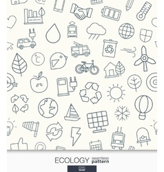 Ecology wallpaper Black and white marketing vector image vector image