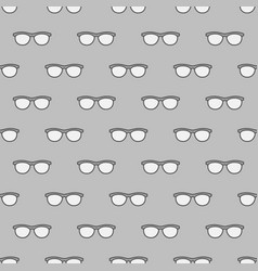 Eyeglasses seamless gray pattern vector