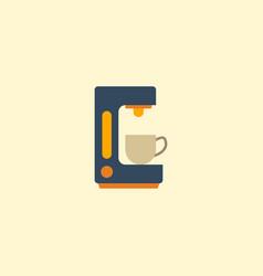 flat icon coffeemaker element vector image vector image