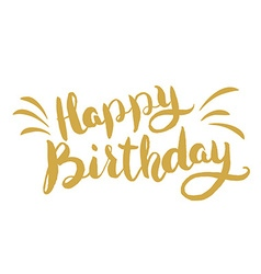 Happy birthday hand drawn lettering greeting card vector