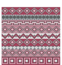 Knitted background in Fair Isle style vector image
