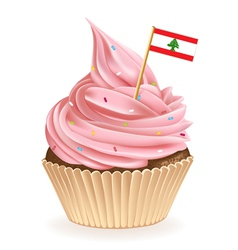 Lebanese cupcake vector