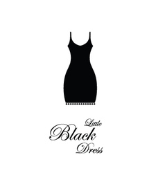 Little Black Dress - design element vector image