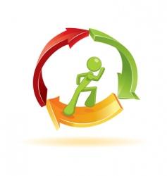Man running symbol vector