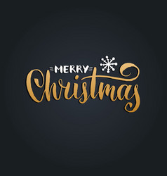 merry christmas lettering with new year vector image
