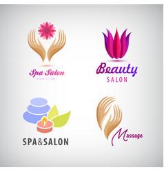 set of cosmetics spa beauty salon vector image vector image