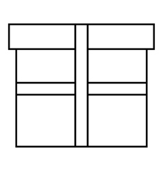 Square box icon outline style vector