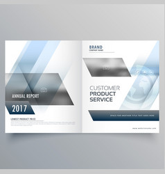 stylish modern bifold brochure design for your vector image vector image