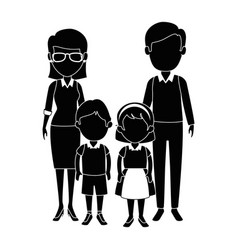 Teachers couple with students avatars characters vector