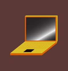 Technology gadget in flat design laptop vector
