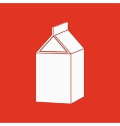 The milk box icon Packing and container symbol vector image