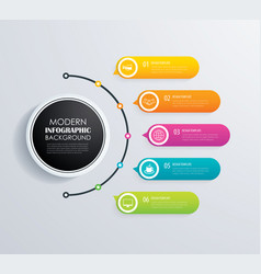 timeline 5 infographic design and marketing vector image