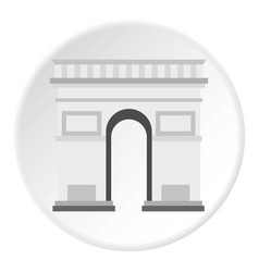 Triumphal arch icon circle vector