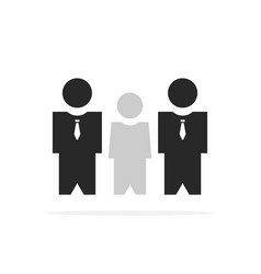 two bodyguards protect client vector image