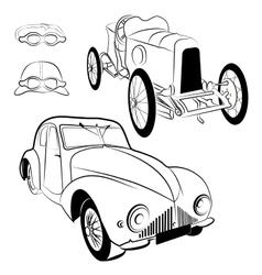 Vintag cars vector image