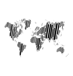 World map of black blocks vector