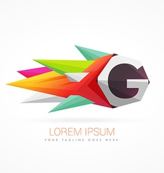 Colorful abstract logo with letter g vector