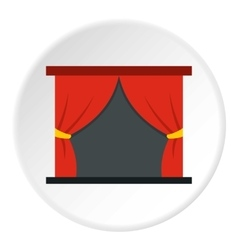 Stage curtains icon flat style vector