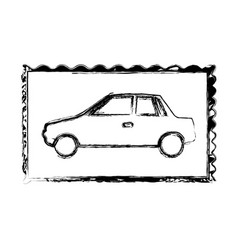 Blurred silhouette frame of automobile vector