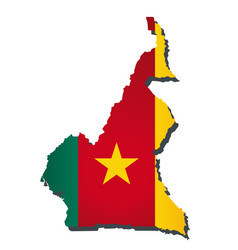Cameroon flag amp map vector