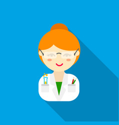 Scientist flat icon for web and vector
