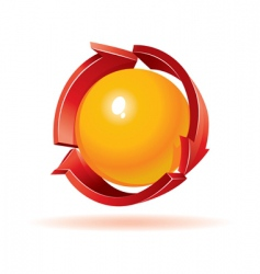 sphere and arrows vector image