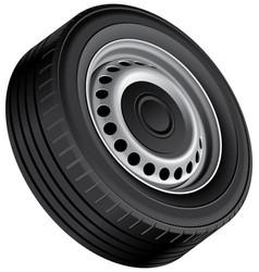 isolated wheel vector image