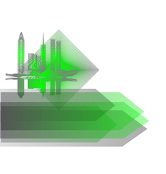 background with abstract city vector image