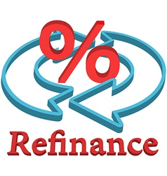 Refinance home mortgage loan vector