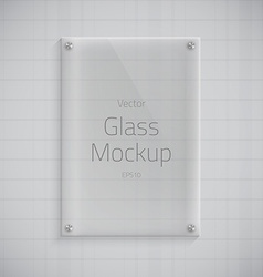 Glass plate mockup background vector