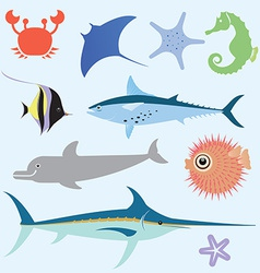 Sea set vector