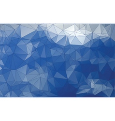 Abstract blue triangle low poly background vector