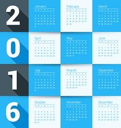 Design Print Template Calendar for 2016 Year Week vector image