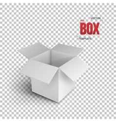 Realistic open package box eps10 vector