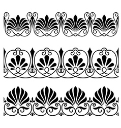 Vintage floral ornaments vector