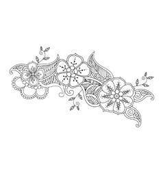 Monochrome Mendie design vector image