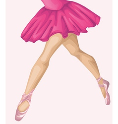 Ballerinas leg vector image vector image