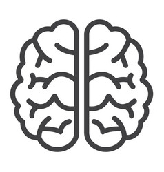 brain line icon brainstorm and idea medical vector image