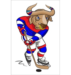 Buffalo - the hockey player vector image vector image