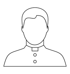 Catholic priest icon outline style vector