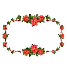 christmas festive frame vector image