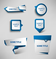 Collection blue web pointers design template vector