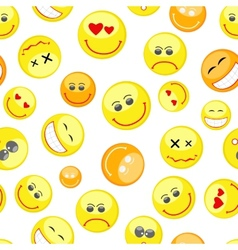 colorful smiles seamless pattern vector image vector image