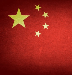 Grunge Flag Of China vector image