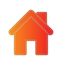 Home silhouette Orange applique vector image vector image